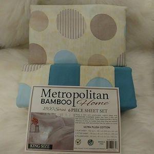 Metropolitan Bamboo King Polka Dot Sheet Set